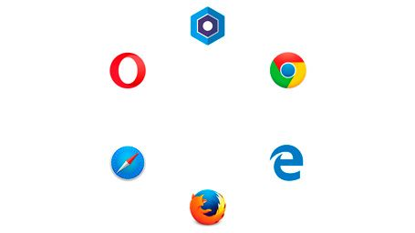 Blisk logo with other browsers background white octagonal