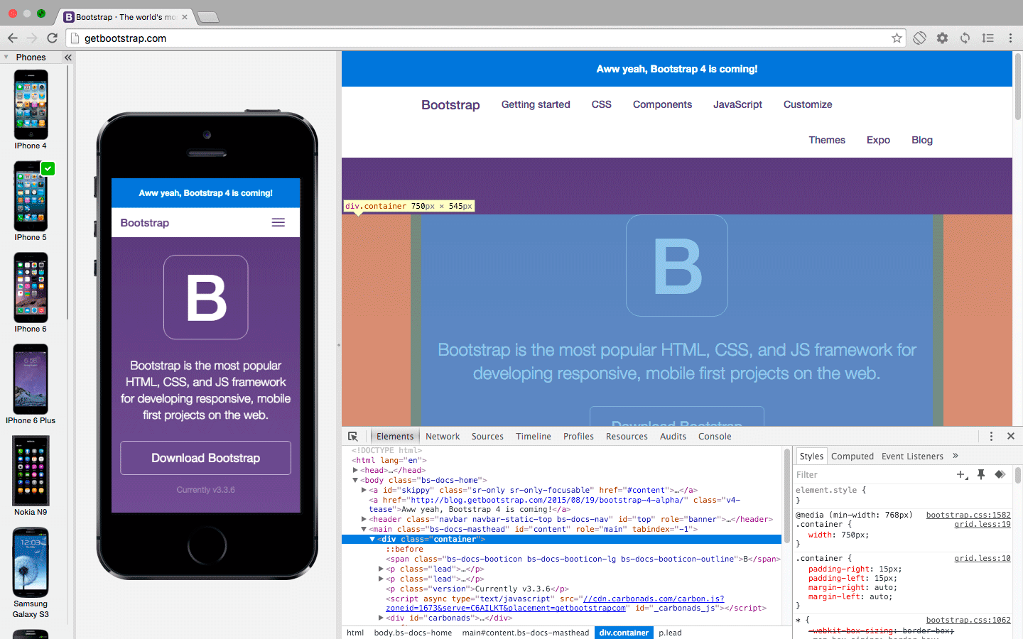 Blisk with DevTools on Mac